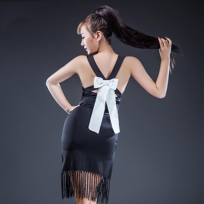 New Latin Dance Dress Sexy Tango Dresses Salsa Dance Clothes For Women Tassel Skirt Slim Professional Competition Dress DN1478
