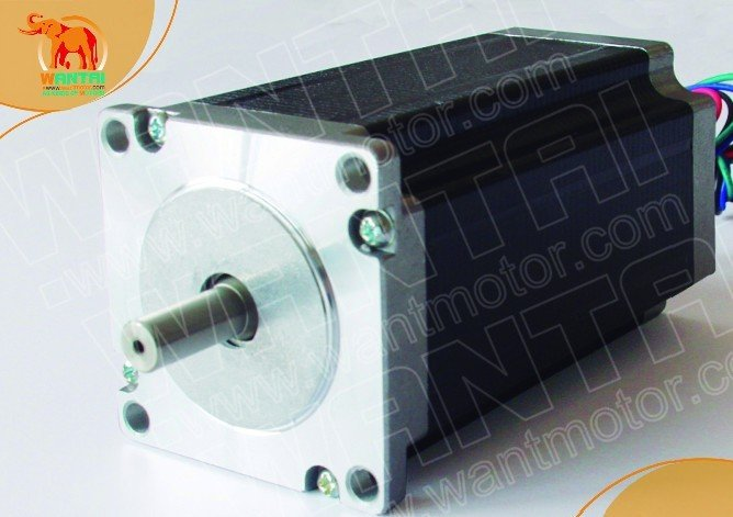 цена на Good Quality! Wantai Nema 23 Stepper Motor WT57STH115-3004B 30kg-cm(425oz-in) 115mm 3A Dual Shaft CE ROHS ISO CNC Mill Cut Laser