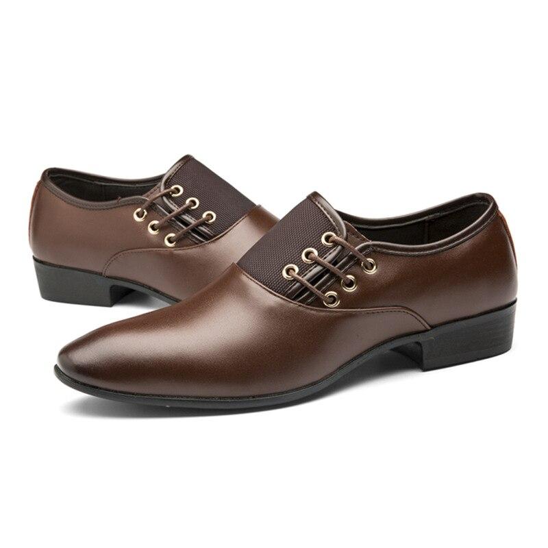 marrom Vintage Preto Sapatos Clássico Mens De Ponto 48 Tamanho Festa 38 Marca Preto Para Oxfords Moda Novos Sapatas Vestido Homens Dos Do amarelo Toe Negócio Da 1qOSpn7w8p