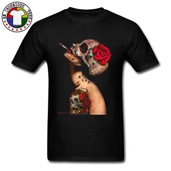 Newest T Shirt 3D Printed Sex Sugar Skull Tattoo Pin Up Day Of Dead Viva La Muerte Tshirt Sexy Coquette Alice Image T-Shirt