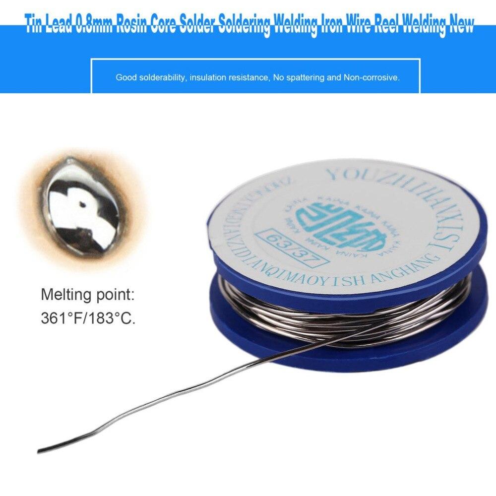 Haute qualité 1 pièces noyau de colophane étain plomb 0.8mm soudure soudure soudure fil de fer bobine de soudage