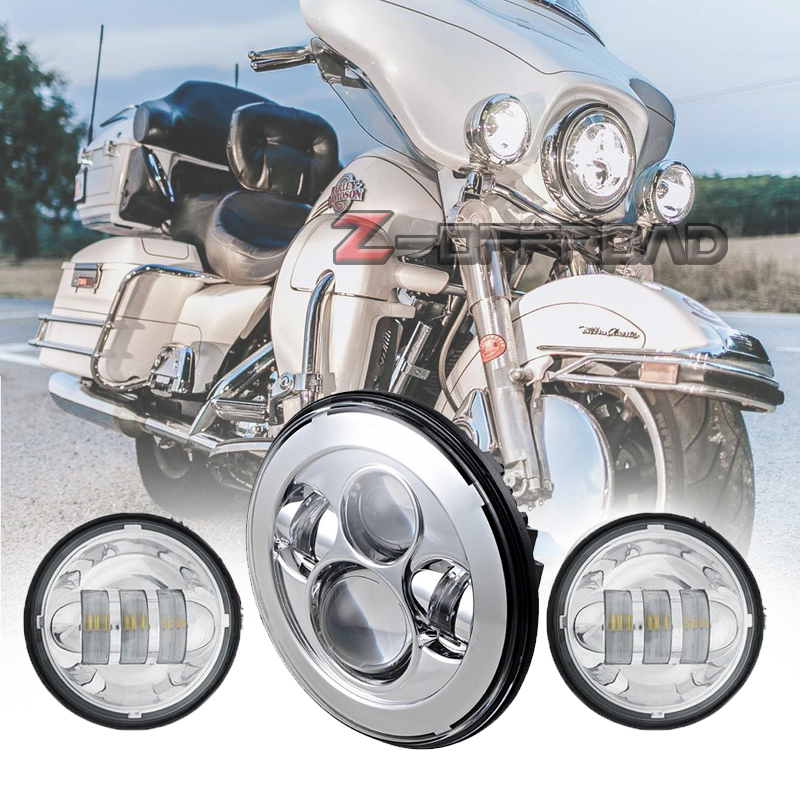 For Harley Road King Motorcycle Headlight Daymaker 7 Quot Led