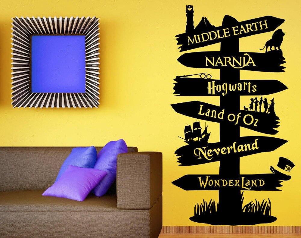 Wall Decal Vinyl Sticker Storybook Signpost Fandom Harry Potter Lord ...