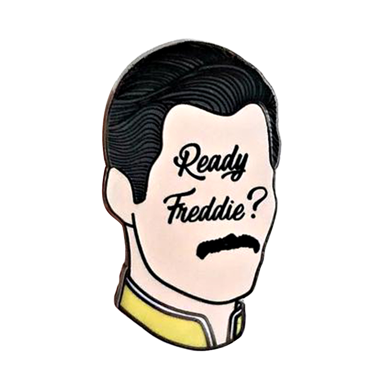 Freddie Mercury King Head Enamel Pin