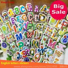 Interest English letters stickers,Children's cognitive literacy early childhood educational stickers kindergarten Kids stickers(China)
