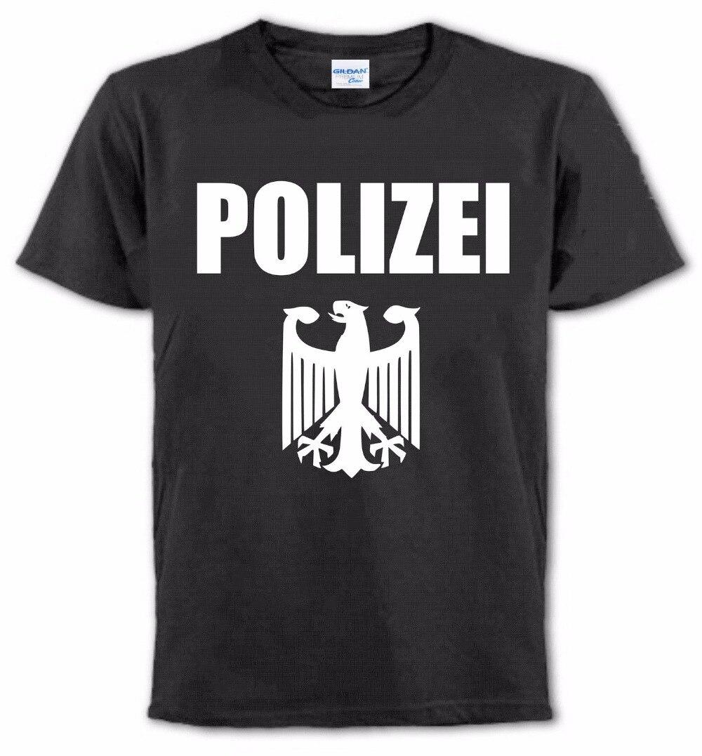 Nouveau mode hommes T-Shirt pour hommes créer votre propre T-Shirt Police T-Shirt allemagne Polizei officier Toutes Les Tailles T-Shirt