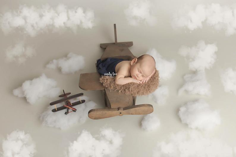 Newborn Photography Props Airplane Photo Studio Photographs One Hundred Days Full Moon Old Baby Photography Airplane Juguetes