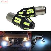 2*1157 BAY15D P21/5 W S25 Biały Canbus Nie Błąd 40SMD 2835 Żarówki LED Do Tworzenia Kopii Zapasowych Samochodów Włączanie Hamowania Cofania Parking ogon