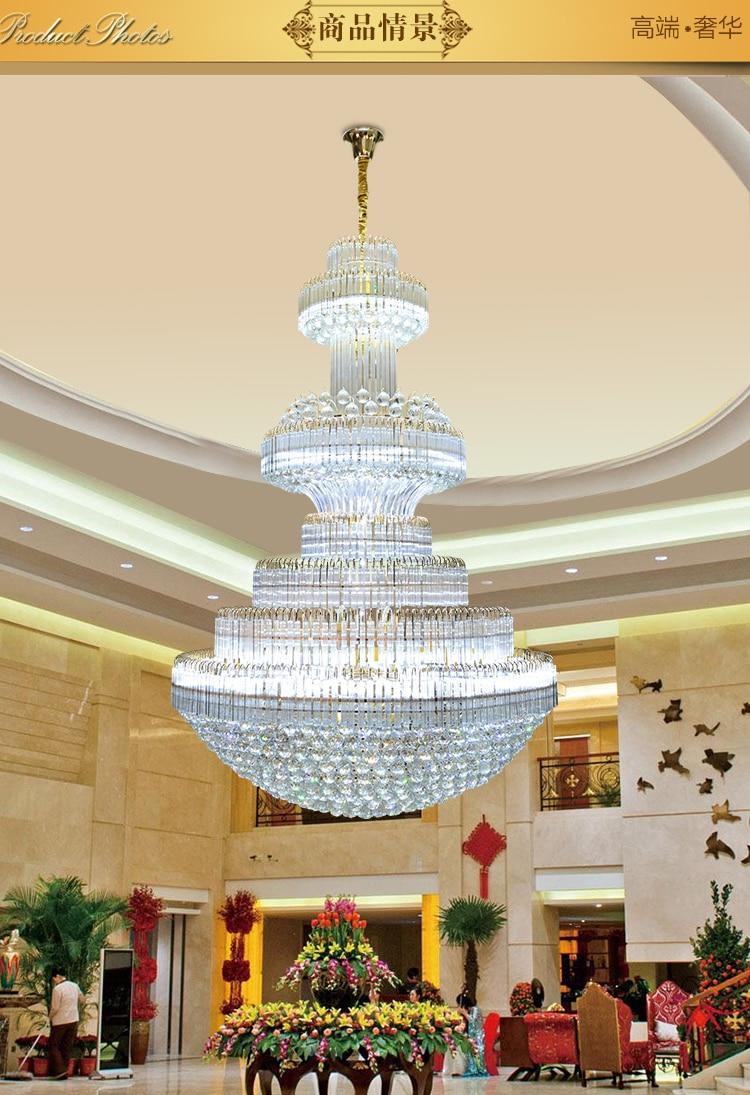 Gouden kristallen kroonluchter Moderne kroonluchters Verlichting - Binnenverlichting - Foto 4