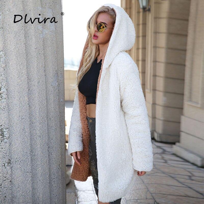 Taille Hiver Black khaki Femme Manteau Automne En Grande Dlvira Chaud Épaississement Laine Veste Imitation Dames pfx0UB4q