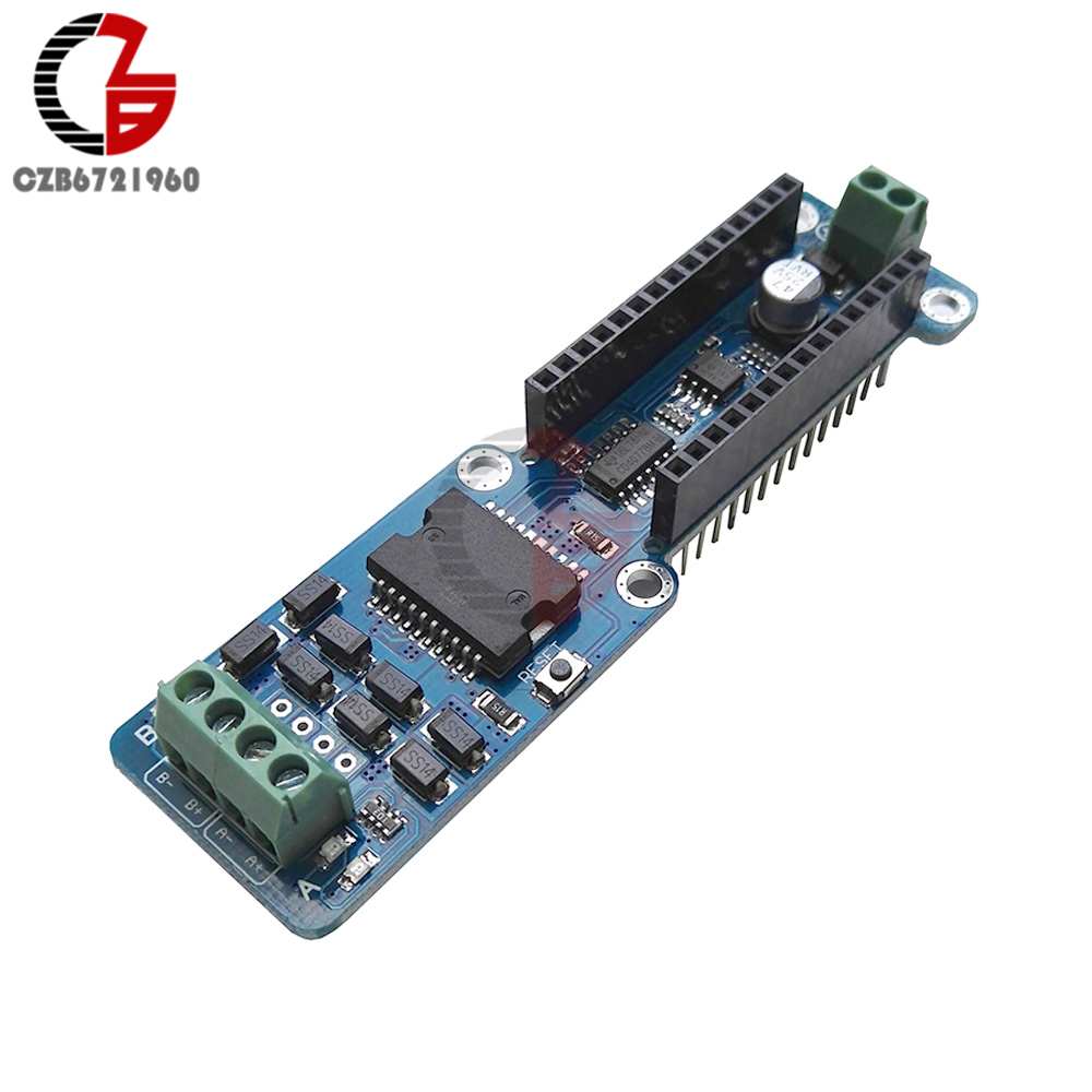 L298P 2A Dual Channel DC Stepper Motor Driver Shield Module for Arduino Nano 3.0 5v 2 channel ir relay shield expansion board module for arduino with infrared remote controller