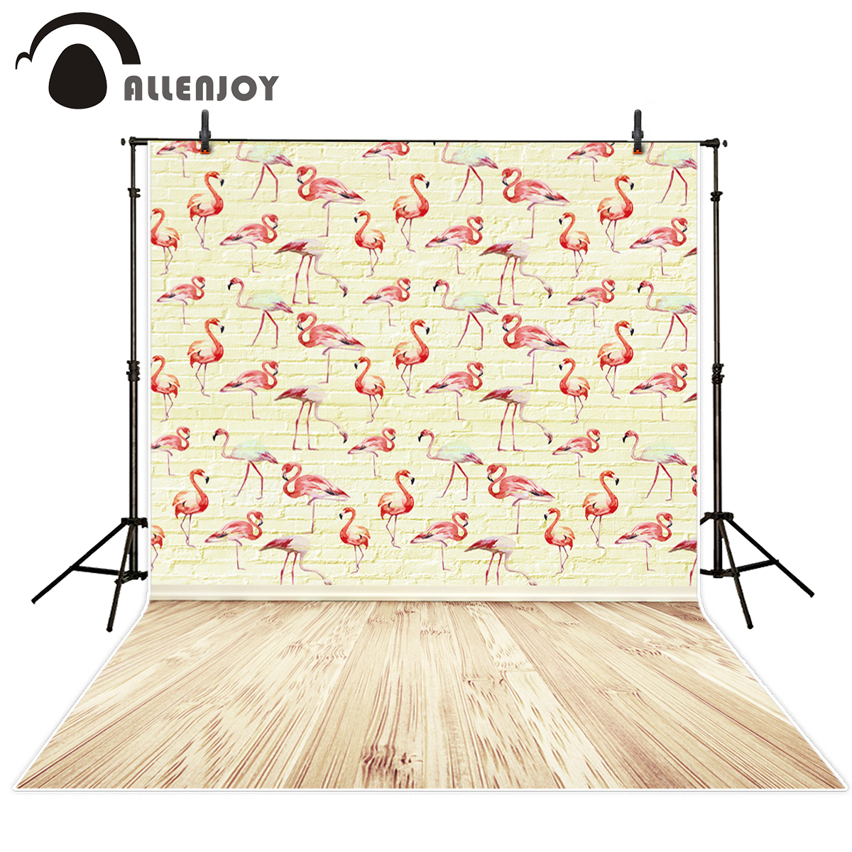 Allenjoy photography backdrop Yellow brick wall flamingo repeat children background newborn original design for photo studio allenjoy background for photo studio full moon spider black cat pumpkin halloween backdrop newborn original design fantasy props