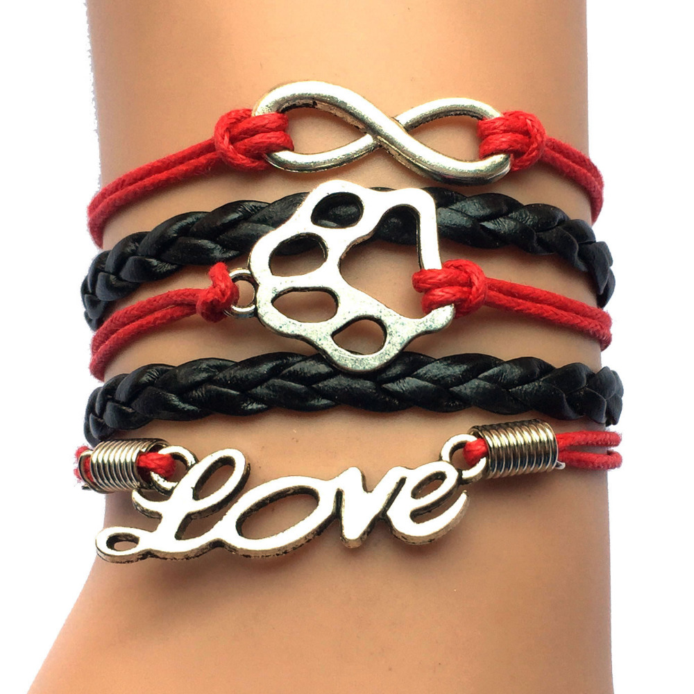 Drop Shipping Infinity Love Tiger Paw Charm Multilayer ...