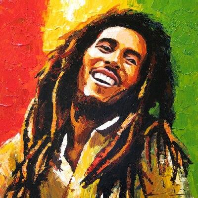 TOP ART oil painting BOB MARLEY Reggae Jamaica ROCK Singer portrait OIL PAINTING 100% hand painted Accept customize art