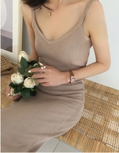 Lady Womens Bodycon Adjustable Single Slit Dresses Sexy Women Party Outwear Tight Fitting Fashion Sleeveless