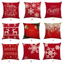 2019 Christmas  Pillow Case Square Pillow Cover Cushion Case Toss Pillowcase Hidden Zipper Closure hidden christmas