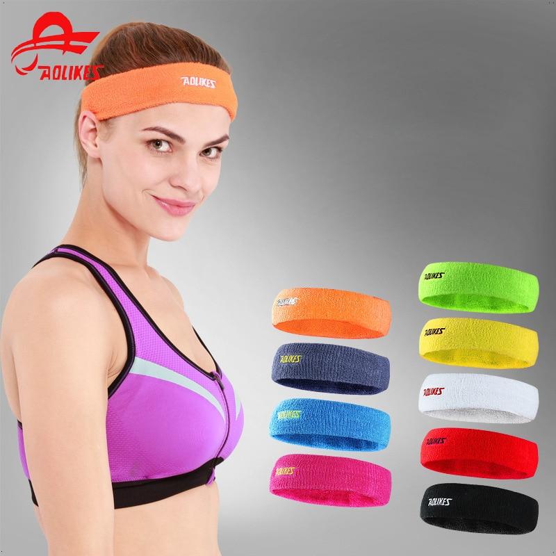 Sweatband Aolikes 1 Pcs Weave Elastic Yoga Sweatband For Women Men Running Hair Bands Fitness Sweat Bands Sport Headband Wholesale Fragrant Aroma Sports Safety