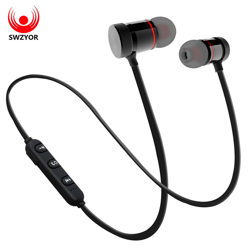 SWZYOR GZ05 Bluetooth  Wireless Sport Running Earphone Stereo In-ear Magnet Earbud With Microphone Earphone For iphone Sumsang kz ed8m earphone 3 5mm jack hifi earphones in ear headphones with microphone hands free auricolare for phone auriculares sport