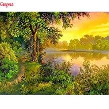 Full,square,round Diamond Embroidery,natural scenery landscape 5d Diamond Painting,lake,tree,Cross Stitch,3D,Mosaic photo custom