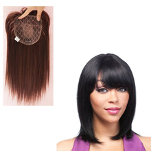 2019 New Top Piece Closure Toupee Black Brown Top Natural Straight Hair Female Hear Resistant Synthetic Hair Piece For Women jinkaili top piece closure toupee black brown top natural straight hair female hear resistant synthetic hair piece women