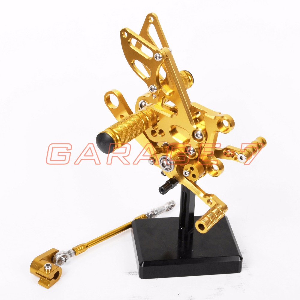 CNC Rearsets Foot Pegs Rear Set Golden Color For Aprilia RSV4 2009-2012 2011 2010 Hot Sale High Quality Motorcycle Accessory
