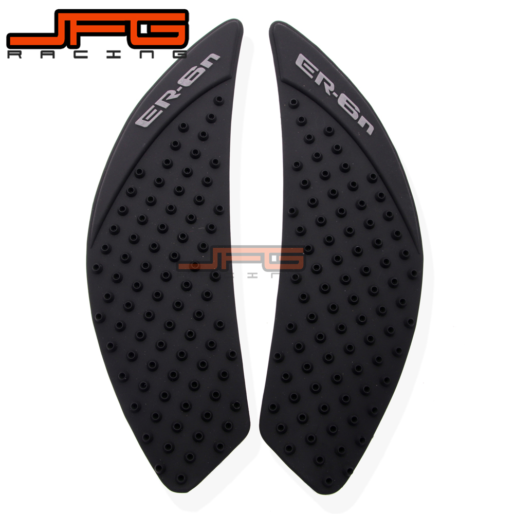 For Kawasaki Er6n Er-6n Er 6n 2006-2015 Motorcycle Anti Slip Gas Oil Fuel Tank Traction Pad Protector Knee Side Decal Sticker Decals & Stickers