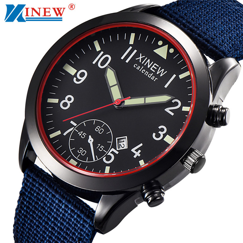 Luxury Mens Quartz Wrist Watch Date Gunmetal Stainless Steel Sport Army Quartz Men Watch Stainless Steel Clock Men's Watch 4-