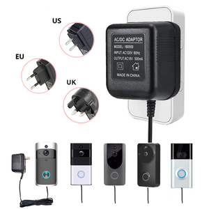 Image 1 - 18V AC Transformer 5 Meter Cable Wifi Doorbell Camera Power Adapter for IP Video Intercom Ring Wireless Doorbell 110V 240V Imput