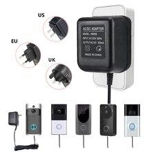 18V transformatora prądu przemiennego 5 metr kabla wizjer wbudowaną kamerą wi fi zasilacz do IP wideodomofon pierścień bezprzewodowy/a dzwonek do drzwi 110 do V 240V wejście