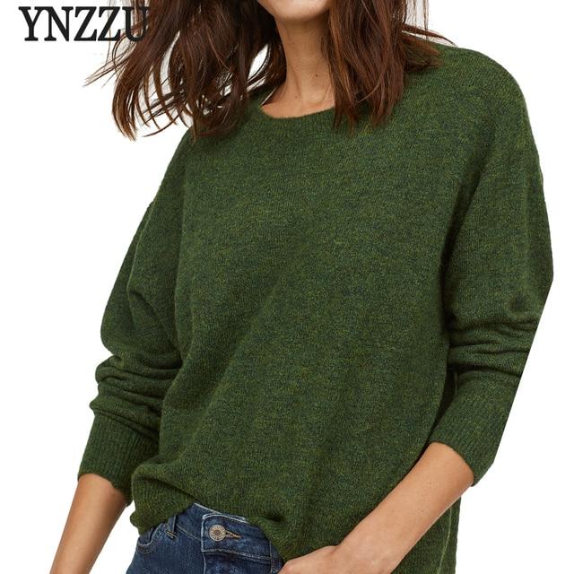Knitting Pullover Autumn Winter long Sleeve 2018 Wool Sweater Women Pull  Femme Casual Green Soft Jumper f7d3f27d4