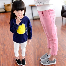 Female child Long pants slim pencil pants feet stretch baby girl's clothing pant