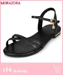 HTB1JtNYGmtYBeNjSspaq6yOOFXaK MORAZORA Plus size 34-46 New genuine leather sandals women shoes fashion flat sandals cow leather summer rhinestone ladies shoes