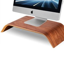 2016 Flash Sale Universal Fashion Desktop Computer Monitor Heighten Wooden Stand Dock Holder Display Bracket For iMac(China (Mainland))