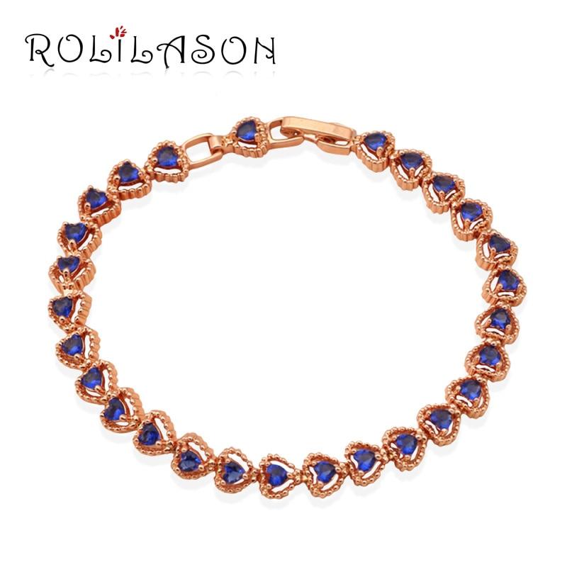 Gorgeous style rose font b Gold b font Tone new 2016 font b Bracelets b font