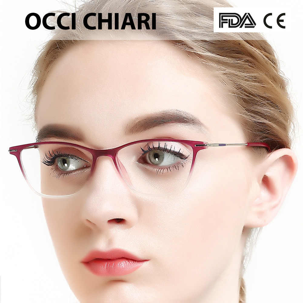 e6beeac3d9b Eyewear Frames Women Glasses Frame Optical Spring Hinge Ultralight TR90  Filter Anti Blue Light Computer Eyeglasses