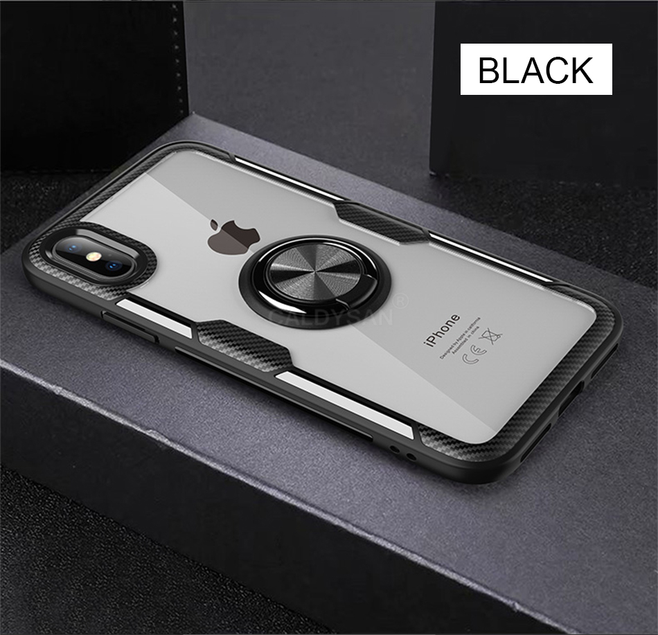Luxury Bumper Case And Car Holder Ring Case For IPhone XS Max XR X 10