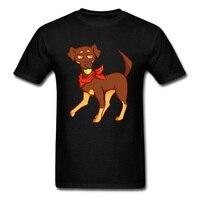 Летние Осенние мужские футболки Bongo собака простой стиль Топы футболки из чистого хлопка Наруто, Корея, бультерьер футболка для мужчин