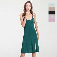 Women's 50% Silk Full Slip Chemise Sexy Sleepwear Nightdress Nightgown HY122