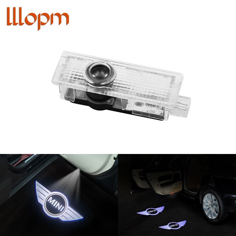 1pcs Car Door Light LED Logo Car Welcome Light For BMW MINI Cooper One S R50 R53 R56 R60 F55 F56 R58 R59 Car Styling Accessories