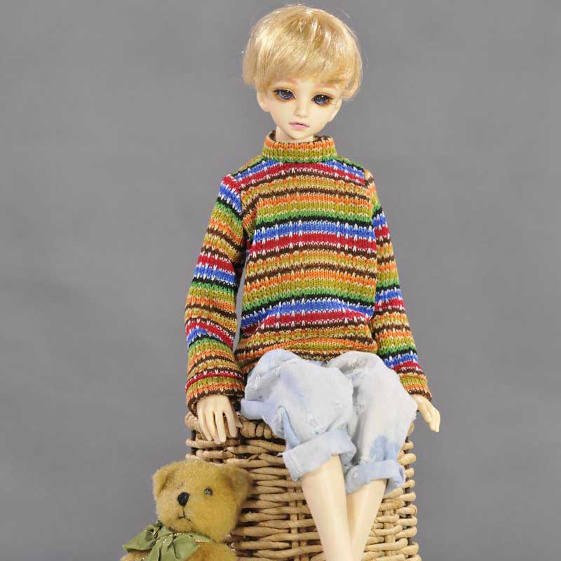 2PCS/LOT Doll Accessories Fashion Doll Sweater Clothes For BJD Dolls 1/4 fashion sweater for bjd 1 3 1 4 uncle doll clothes accessories 4 colors