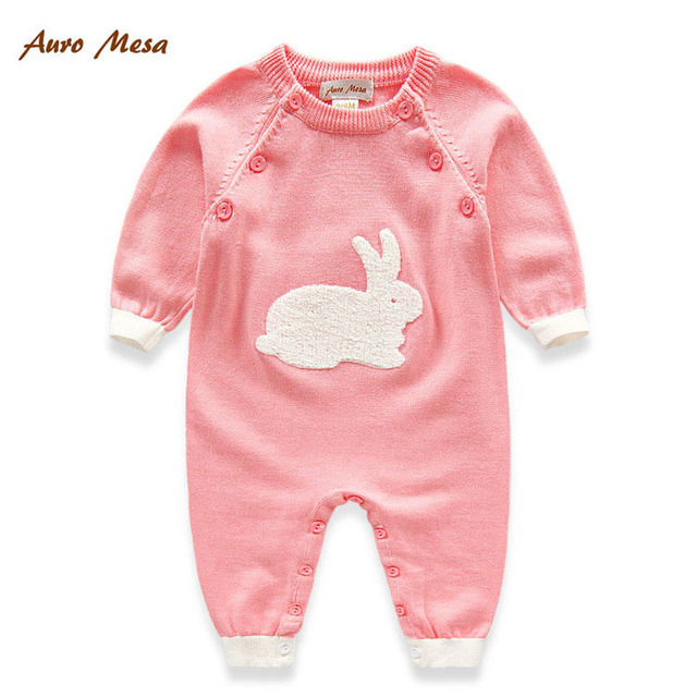 7fc1d4638654 Hot Spring Autumn Auro Mesa Newborn baby wool Knitting Rompers Soft ...
