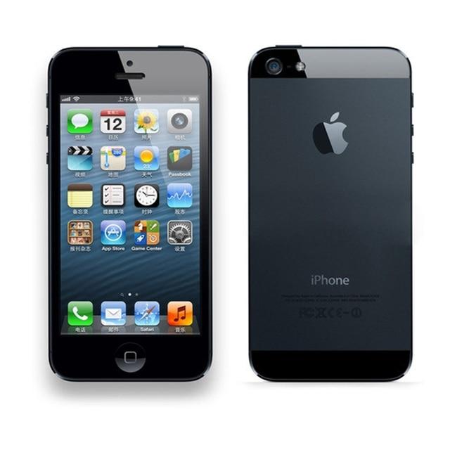 """Оригинальный Apple IPhone 5 открыл мобильный телефон IOS Dual-Core 4.0 """"8MP Камера WI-FI GPS использовать телефон Бесплатный подарок"""