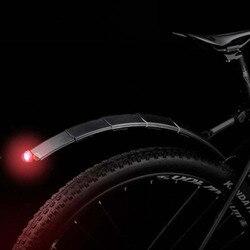 2 pçs mountain bike ciclismo dianteiro traseiro led paralama conjunto dobrável bicicleta fender lanterna traseira
