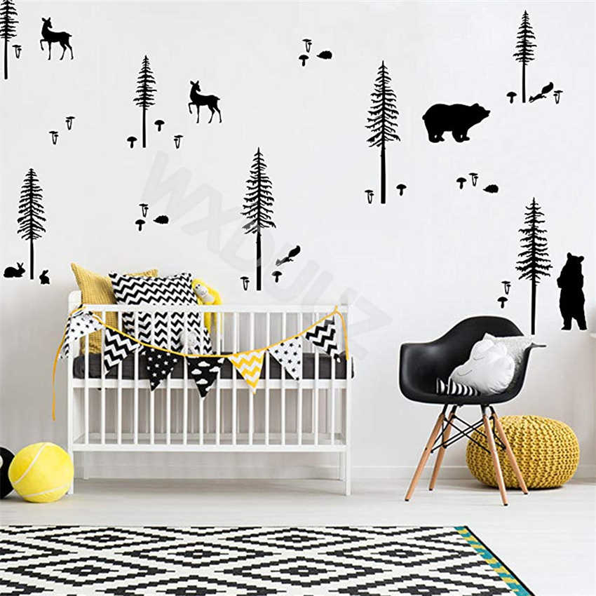Bear Wall Sticker Indian  Wall Stickers Nursery Wall Stickers Woodland Wall Decals Tribal Bear Wall Sticker Decal Kid Room Decal