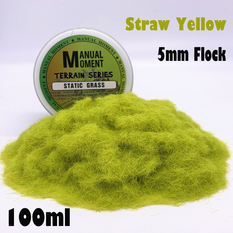Miniature Scene Model Materia Straw Yellow Turf Flock Lawn Nylon Grass Powder STATIC GRASS 5MM Modeling Hobby Craft  Accessory