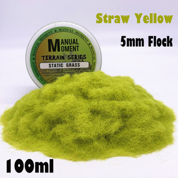 Miniature Scene Model Materia Straw Yellow Turf Flock Lawn Nylon Grass Powder STATIC GRASS 5MM Modeling Hobby Craft Accessory 5mm Flock Static Grass Fiber HOBBY ACCESORIES Type: Model