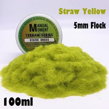 Miniature Scene Model Materia Straw Yellow Turf Flock Lawn Nylon Grass Powder STATIC GRASS 5MM Modeling Hobby Craft Accessory 5mm Flock Static Grass Fiber HOBBY ACCESORIES Type: Model