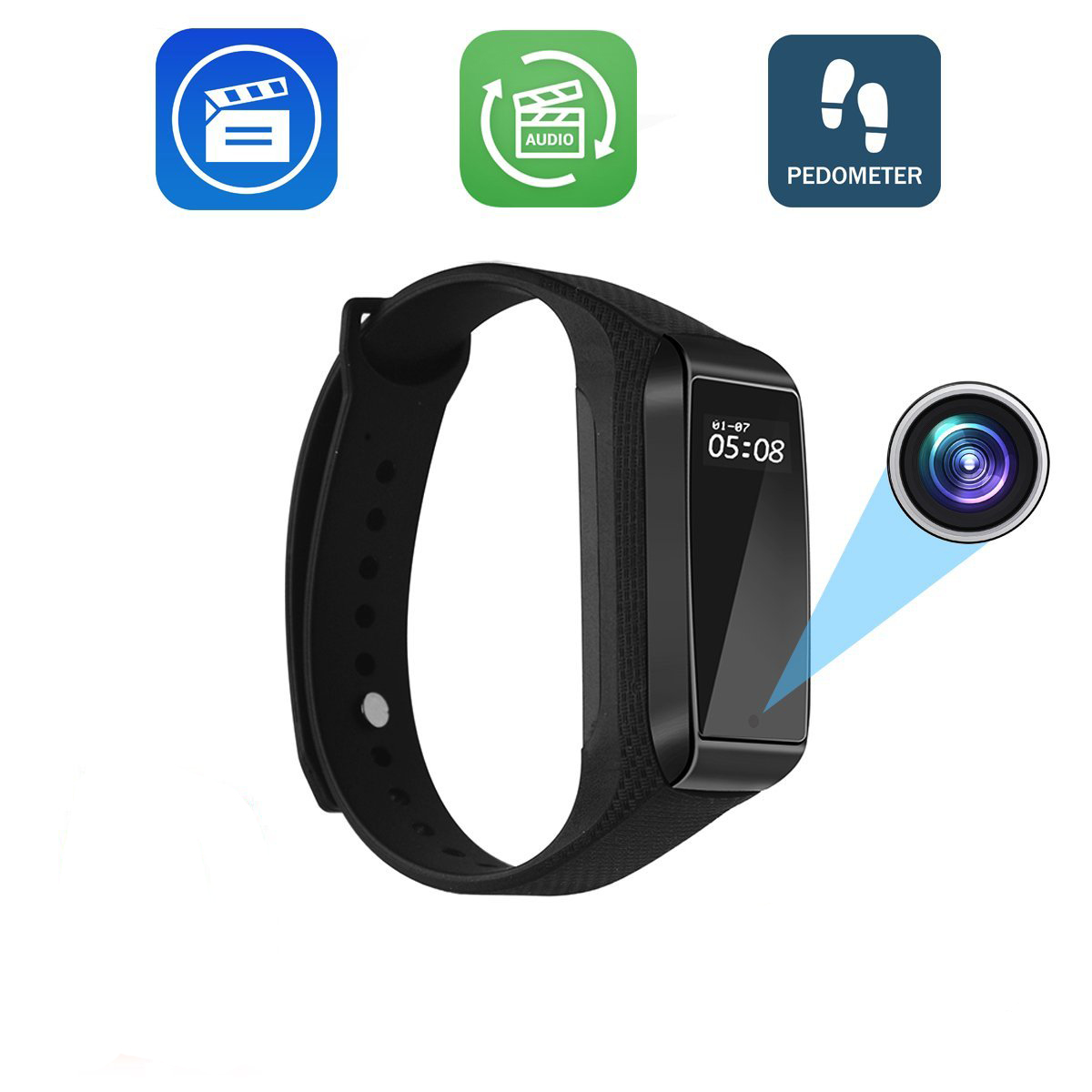 K68 Mini Smart Bracelet Camera HD 1080P Wearable Band DVR Video Audio Recorder Secret Camcorder Micro Cam Fitness Tracker WebcamK68 Mini Smart Bracelet Camera HD 1080P Wearable Band DVR Video Audio Recorder Secret Camcorder Micro Cam Fitness Tracker Webcam