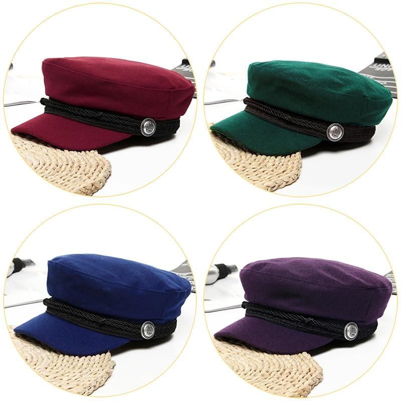 82fb9934 2019 Trend Winter Hats For Women French Style Wool Baker's Boy Hat New Cool  Women Baseball Cap Black Visor Hat Gorras Casquette-in Women's Baseball Caps  ...