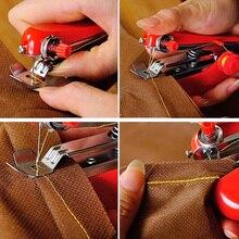 1 шт. Горячая Полезная портативная рукоделие Беспроводная мини ручная одежда ткани швейная машина 8 случайных цветов